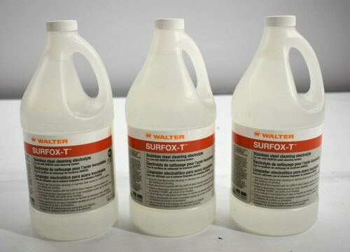 Lot of 3 Walter Surfox-T Stainless Steel Cleaner Pulse Mig Tig & Spot Welds 1.5L
