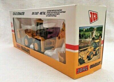 JCB 4CX Sitemaster Backhoe Loader Die Cast Model - Scale 1:35 - JOAL - Rare 1983