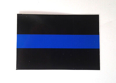"THIN BLUE LINE FOR LAW ENFORCEMENT Hero Window Sticker SMALL MINI 3"" X 2""  GC"