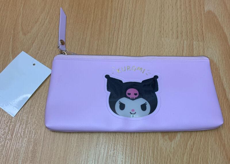Sanrio Kuromi Purple Black Pencil Pouch Case Trinket (Face)
