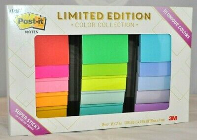 Post-it Notes 3x3 Limited Edition Color Collection 15 Pads 675 Total 3m 2019 New