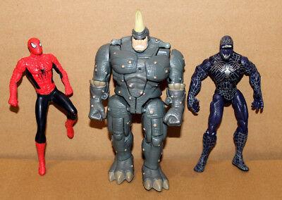 Spider-Man Animated series Shape Shifter Rhino / Venom & Swinging Figure Marvel