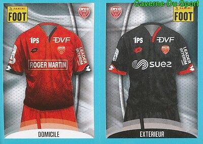 174-175 MAILLOT DOMICILE - MAILLOT EXTERIEUR DIJON.FCO STICKER FOOT 2017 PANINI image