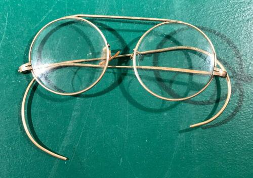 Vintage 1/10 12K Gold Filled Round Bi-Focal Eyeglasses Glasses (#3764)