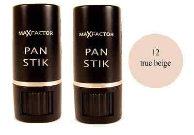 Max Factor Panstik Foundation - 12 True Beige, 9g (2 Pack)