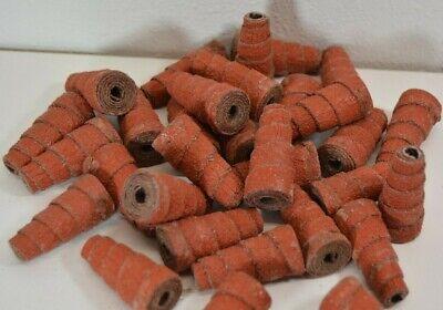 25pc 3m Tapered Cartridge Roll 34 X 1-12 60g 316 Arbor Sanding Debur Grind