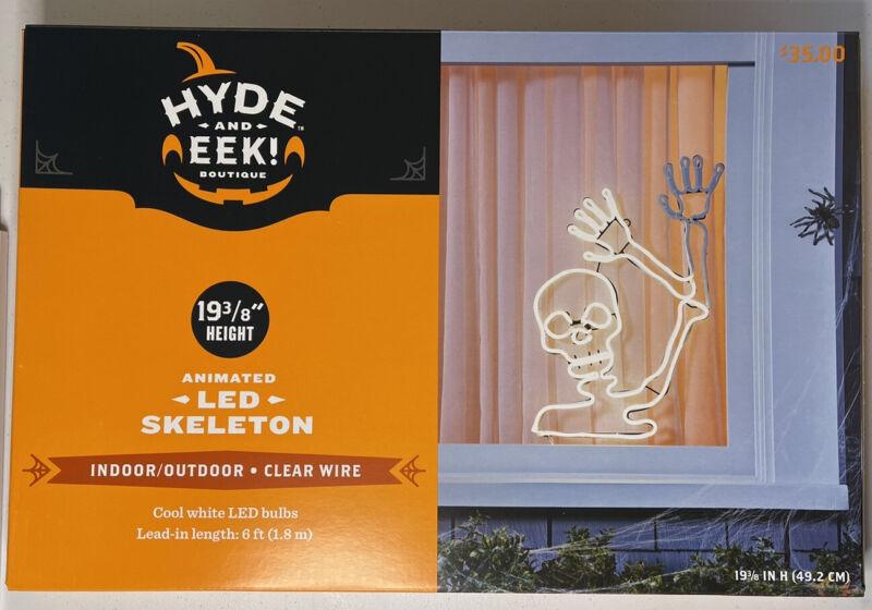 NIB LED waving skeleton hyde and eek target In Hand Ships Today!