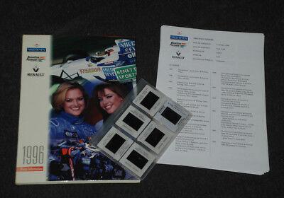 Formula1 Formel1 Benetton Renault B196 Pressemappe Press Media Kit Launch 1996