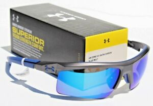 5cfaf7cba2 UNDER ARMOUR Core 2.0 Sunglasses Satin Carbon Blue Multi NEW Sport Cycle   115