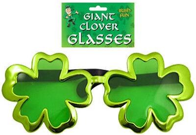 New Oversized Shamrock Sunglasses Irish Theme Football Patricks Fancy Dress