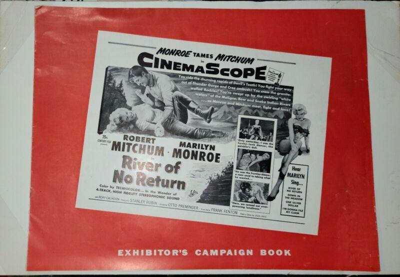 MARILYN MONROE RIVER OF NO RETURN UNCUT PRESSBOOK ROBERT MITCHUM 1954