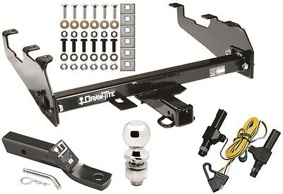 86-93 DODGE D/W 100 150 & W250 350 COMPLETE TRAILER HITCH PACKAGE W/ WIRING KIT