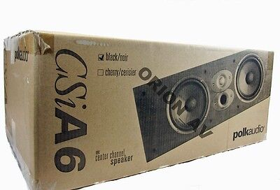 Polk Audio CSIA6 Black Home Theater Center Channel Speaker CSI A6 Brand New