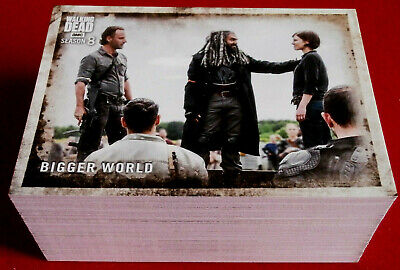 THE WALKING DEAD - SEASON 8 (PART 1) - COMPLETE BASE SET - 90 CARDS - TOPPS 2018