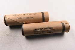 (1) SEALED Indian Head Penny Roll// Bank Of America San Francisco // Window Wrap