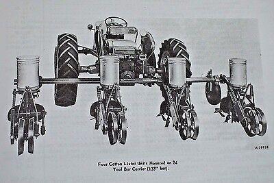 108 109 International Harvester Mccormick Planter Unit Owner Manual Farmall Ih