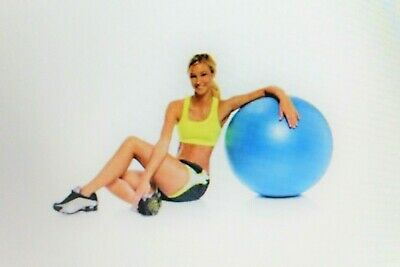 65cm Balance Ball with Pump - Fitness Exercise Pilates Gym Yoga Birthing