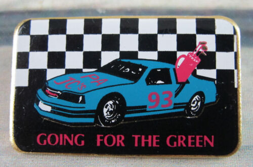 Pennsylvania Jaycees 1993 Lapel Enameled Pin Golf Checkered Sports Race Car