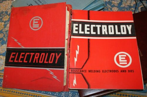 Electroloy Resistance Welding Electrodes and Dies 2 manuals technical drawings