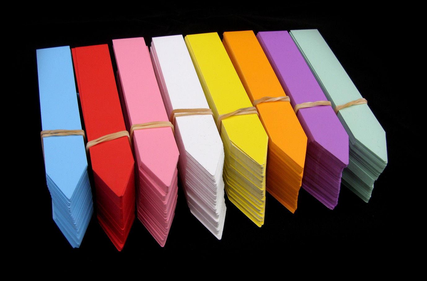 Stecketiketten 1,6x10 farbig Etiketten Pflanzschilder Pflanzenetiketten Schilder