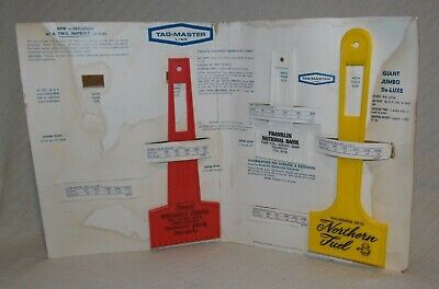 Vintage Salesman's Display TAG-MASTER LINE Windshield Scraper & Squeegee Board