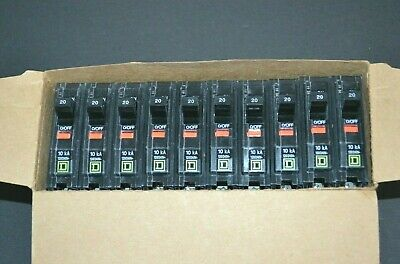 Square D Qo120 Plug-in Circuit Breaker 20a 1 Pole New Box Of 10