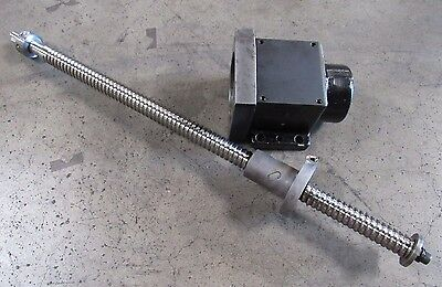 X-axis Ball Screw Assembly From Cincinnati Milacron Sabre 500 1264566a 107130 4