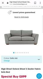 Sofa bed for sale - Furniture Village 18 months old - Oxford Street collection