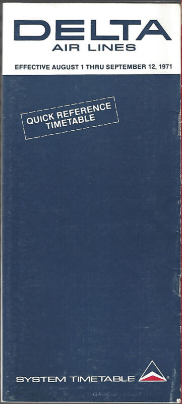 Delta Air Lines system timetable 8/1/71 [8081]