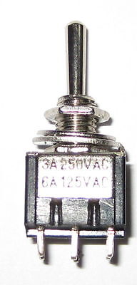 Mini Toggle Switch With Small Handle - Dpdt 6a - 125 V - Mom On - Off - Mom On