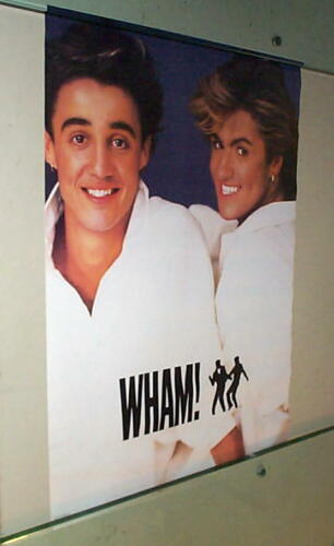WHAM George Michael Vintage 80s Poster
