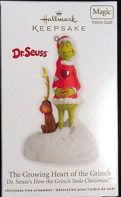 "*2012* Hallmark GRINCH Ornament ""The Growing Heart of the Grinch"" Dr. Seuss"