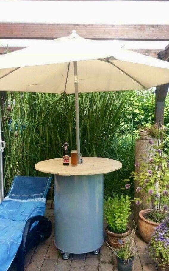 Fass Tonne StehtischBox Aufbewahrung kreativ Möbel Katzenbaum DIY in Sulingen