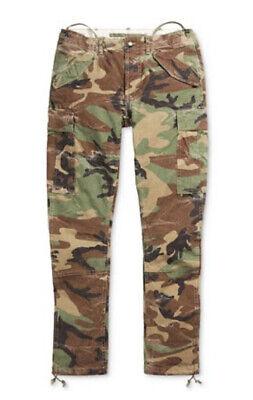 Polo Ralph Lauren Classic Surplus Camo Military Cargo Pants $125 SZ 38x30