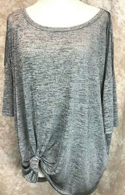 H&M Oversized Fit Tunic Large Grey High Low Runs Big Career Boho