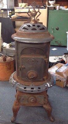 Vintage Pot Belly No 25 Cast Iron Wood Stove