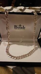 Silver stirling Gents Bevelled Curb Chain Calista Kwinana Area Preview