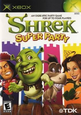 🔥 Shrek Super Party Xbox OG  Complete CIB