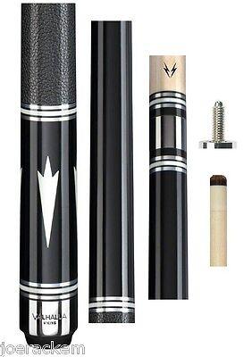 New Valhalla VA901 Black Euro Stain Cue - 13mm Shaft - FREE 3 Piece Gift Set Black Stained Shaft
