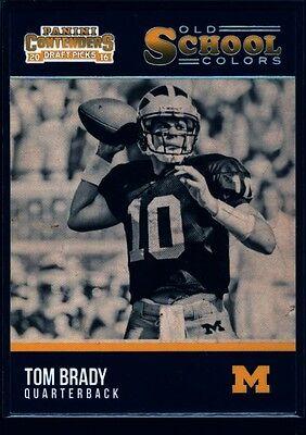 Tom Brady Michigan Wolverines Old School Colors Sp 2016 Contenders Um Patriots