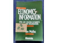 The economics of information - Lying and cheating in markets and organisations (isbn 0-631-20666)