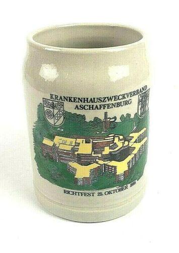 Vintage 1985 Krankenhauszweckverband Aschaffenburg  German .5 L Beer Mug