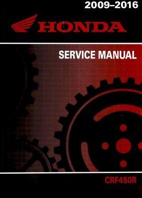Honda CRF450R 2015 2016 motorcycle service manual in binder