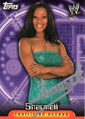 WWE SIGNED TRADING CARD SHARMELL WRESTLING NITRO GIRL BOOKER T