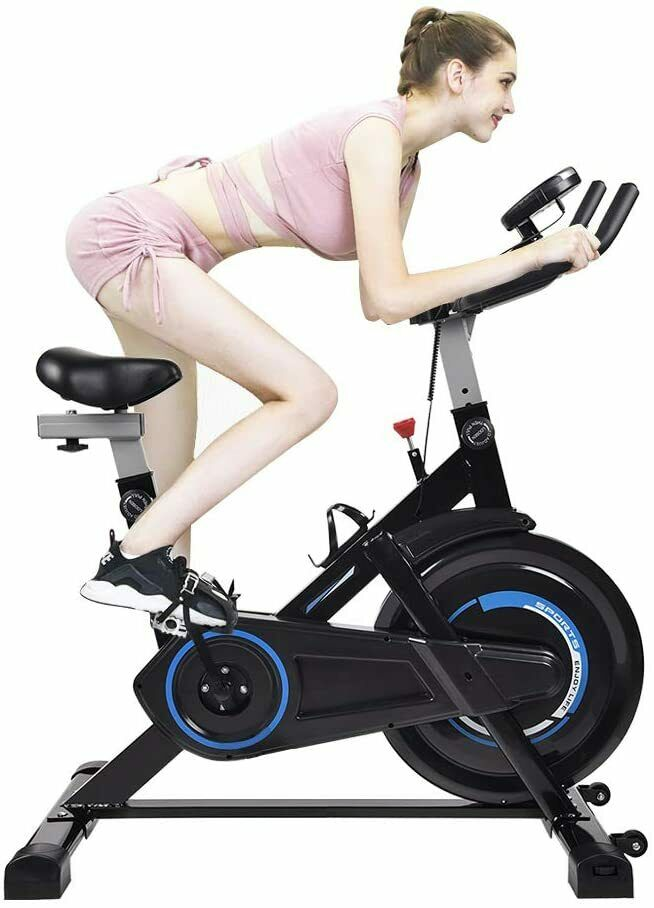 Elecwish Indoor Cycling Bike Exercise Spin Bicycle Stationar