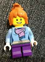 LEGO Minifigure Torso 379 SAND BLUE Female Scarf and Dress Top Large Lapels