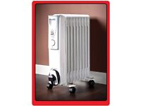 New & Boxed 9 Fin Oil Filled Radiator Portable 2000 Watt Electric Heater Thermostat Control