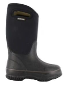 Bogs Kids' Classic Winter Boots - Black, Size 10 US