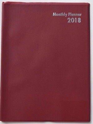 2018 Planner Organizer Monthly Format 8 X 11 Red Calendar Hot Item