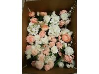 Peach and cream silk flowers - ideal for wedding decoration